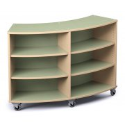 Palette Radius Mobile Library Shelving (42