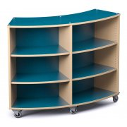Palette Radius Mobile Library Shelving - Double-Sided (48
