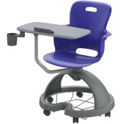 Ethos Mobile School Chair with Quad Base, Cup Holder, Tablet
