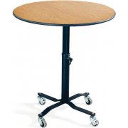 EZ-Tilt Adj. Height Mobile Round Cafe Table (30