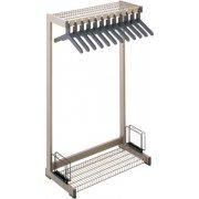 Metal Commercial Coat Rack - Boot Shelf, Umbrella Rack (3')