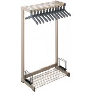Metal Commercial Coat Rack - Boot Shelf, Umbrella Rack (2')