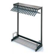 Metal Commercial Coat Rack - Boot Shelf, Umbrella Rack (4')