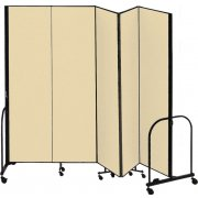FREEstanding Portable Partition - 5 Panels (7'4