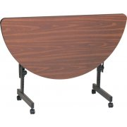 Hi-Pressure Laminate Flip Top Table (24x48 Half-Round)