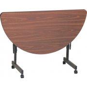 Melamine Flip Top Table (24x48 Half-Round)