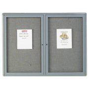 Hinged Fabric Tackboard Directory (2 Door)