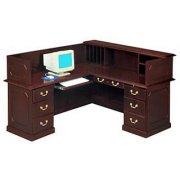 Reception Office Desk- Left Return & Panel