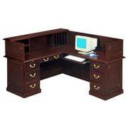 Reception Office Desk - Right Return & Panel