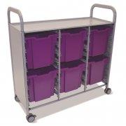 Callero Triple Cart with 6 Jumbo Trays