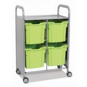 Callero Double Cart with 4 Jumbo trays