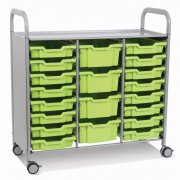 Callero Triple Cart with 16 Shallow & 4 Deep Trays