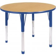 Hercules Adjustable Round Activity Table- Color Trim (36