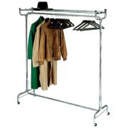 Portable Coat Rack with Hat Shelf and Hangers (5')