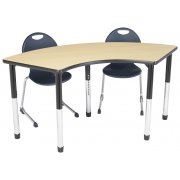Hercules Adj. Arc Activity Table - Color Trim (24x60
