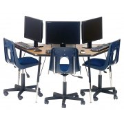 Academia Adjustable Trapezoid Computer Table (60