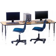 Adjustable Rectangular Computer Table (72