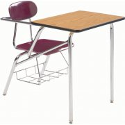 Combo Student Chair Desk - Laminate Top, Support Brace (16