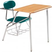 Combo Student Chair Desk - WoodStone Top, Support Brace (18