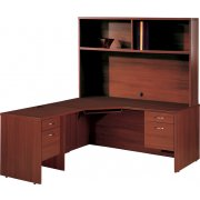 Right Computer L-Shaped Office Desk w/Hutch