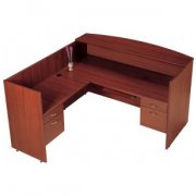 Left Reception Office Desk with KB Tray