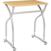 Illustrations V2 Adj. Height Classroom Desk - Hard Plastic