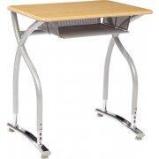 Illustrations V2 Adj. Height Open Front Desk - Hard Plastic