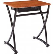 Illustrations V2 Open Front School Desk - WoodStone (29.5