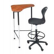 Innovation Adjustable Stand-Up Student Desk - Hard Plastic