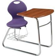 Inspiration Swivel Student Chair Desk - Sled Base (18