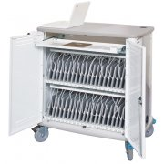 InTouch 40 Tablet Cart with Sync/Charge System -Cord Wrap