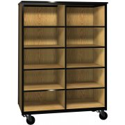 Mobile Cubby Storage - 8 Adjustable Shelves - 66