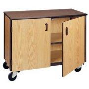 Low Storage Unit with 1 Adj Shelf & Doors