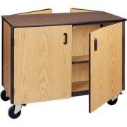 Double Faced Storage Cabinet - 2 Adj Shelves, 36