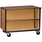 Double Faced Mobile Storage Unit - 2 Adj Shelves, 36