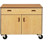 Mobile Office Storage Cabinet - 1 Drawer, 1 Adj Shelf, 36