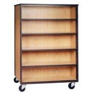 Mobile Office Library Shelving - 4 Adj Shelves, 66
