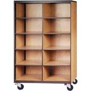 Mobile Cubby Storage - 10 Adj Shelves, 72