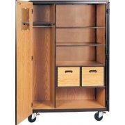 Mobile Wardrobe Storage Closet - 2 Shelves, 2 Drawers, 66