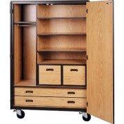 Mobile Wardrobe Storage Closet - 3 Shelves, 4 Drawers, 72