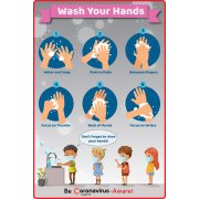 Hand Washing Wall Decal - 8-Pack (12x18