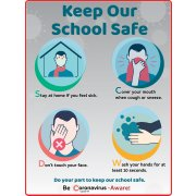 Keep Our School Safe Wall Decal - 4-Pack (18x24