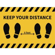 Social Distancing Wall or Floor Decal - 4-Pack (18x24