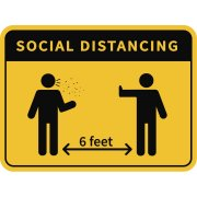Social Distancing Wall Decal - 4-Pack (18x24