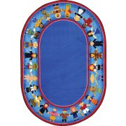Children of Many Cultures Oval Rug (5'4