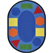 Sitting Shapes Oval Classroom Rug (5'4