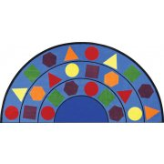 Sitting Shapes Round Classroom Rug (7'7