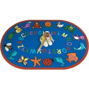 ABC Animals Oval Carpet (7'8