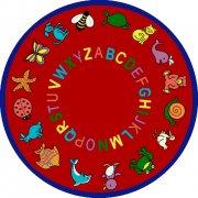 ABC Animals Round Carpet (7'7