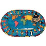 Hands Around the World Oval Carpet (13'2
